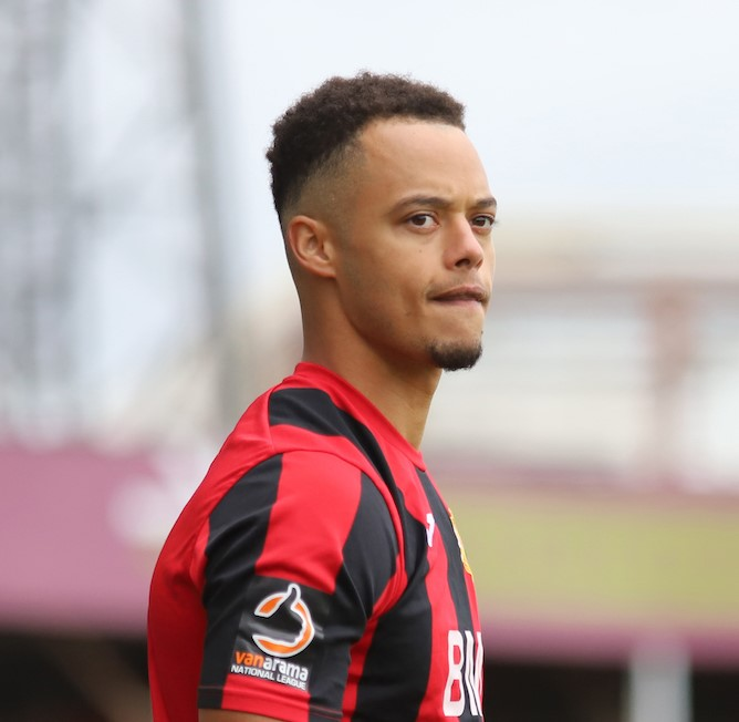 Tre' Mitford, S 06 – 13, Plays for Brackley Town Football Club in the FA Cup