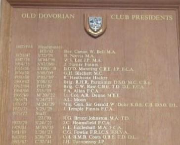 Mrs Jan Richardson. BA – Vice President, Old Dovorian Club